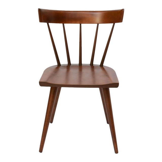 Single Paul McCobb Spindle Back Chair in Dark Maple - Image 1 of 9