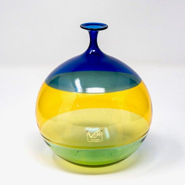 Glass Vinciprova Color Block Murano Glass Vase For Sale - Image 7 of 7