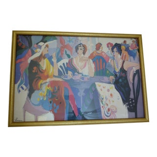 Women in a Parisian Cafe a Giclee Print by Isaac Maimon
