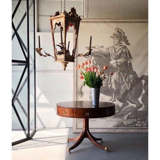 "Auguste Parisian Leather Art Height: 104"" Width: 75.5"" Depth: 3.5"""