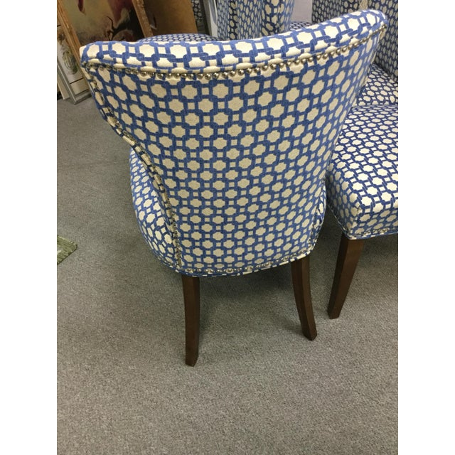 Modern Transitional Dining Room Side Chairs - Set of 6 For Sale - Image 3 of 8