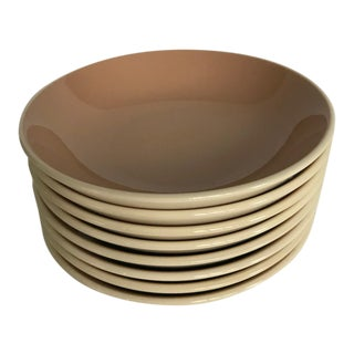 Mid Century Harkerware Small Dusty Rose/Mauve Bowls - Set of 8 For Sale