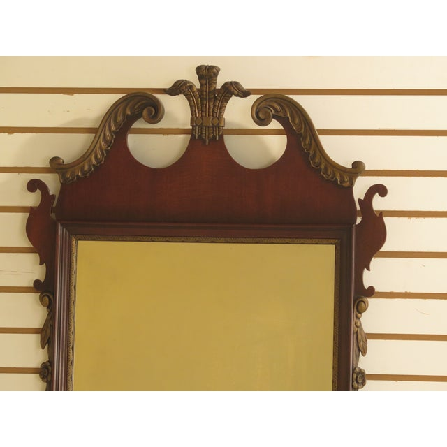 KINDEL Vintage Mahogany Chippendale Wall Mirror Age: Approx. 60 Years Old Details: Mahogany High Quality Construction Gold...
