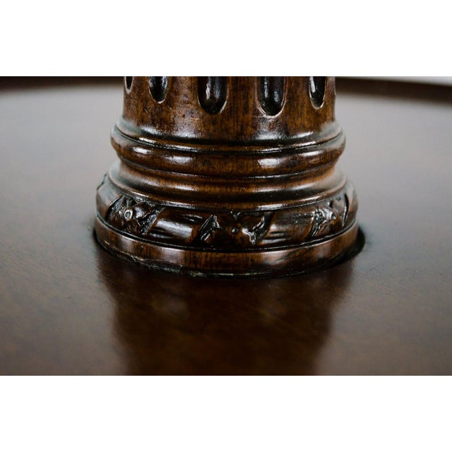 19th Century English Traditional 3-Tier Walnut Dumbwaiter Table For Sale - Image 9 of 13