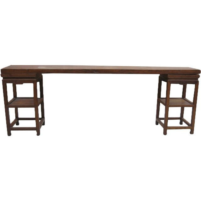 Antique Chinese Elm Console - Image 2 of 3
