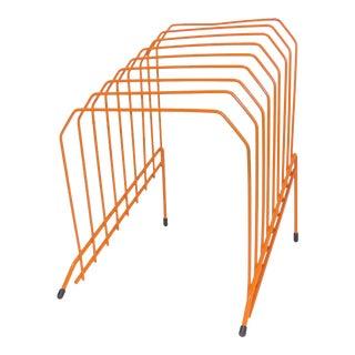 Orange Wire Metal Office Organizer For Sale