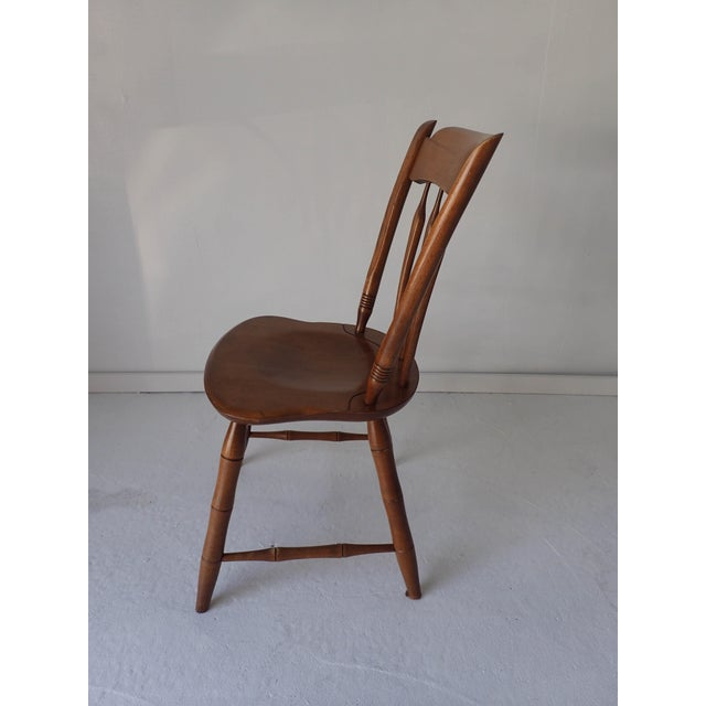 Ethan Allen Country Thumb-Back Dining Chair For Sale In New York - Image 6 of 7