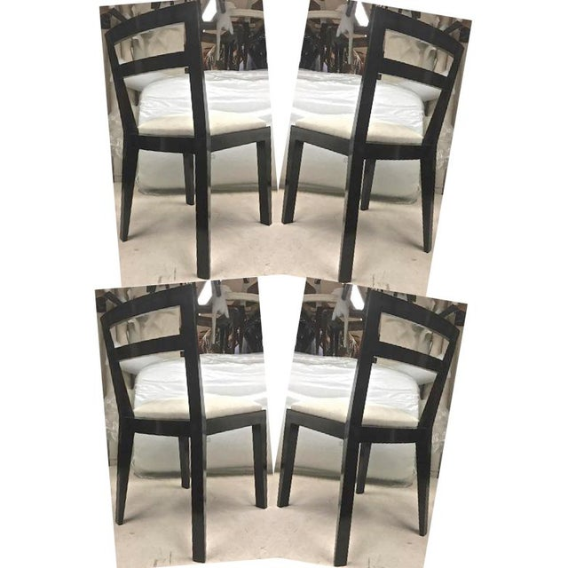 Jean Royère Set of Four Chairs With Tapered Back and Front Legs For Sale - Image 6 of 6