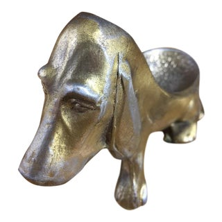 Heavy Brass/Zinc Dachshund Pipe Holder