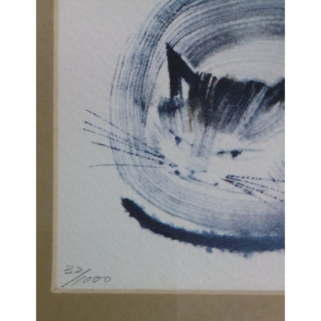 Japanese Collectible Watercolor Cats - A Pair - Image 7 of 10