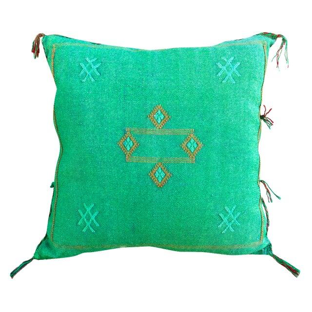 Moroccan Sabra Cactus Silk Pillow For Sale