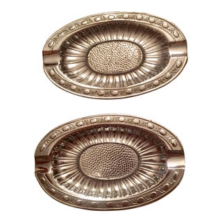 Japanese Metal Ashtrays - A Pair
