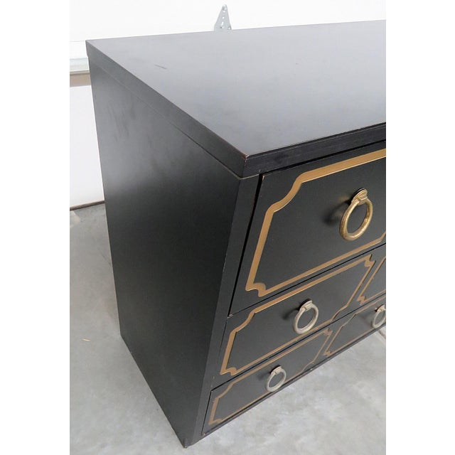 Mid-Century Modern Style Gold-Detailed Chest of Drawers For Sale - Image 9 of 10