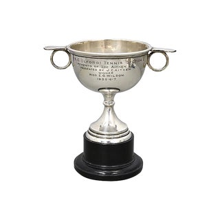1939 English Sterling Silver Tennis Trophy For Sale