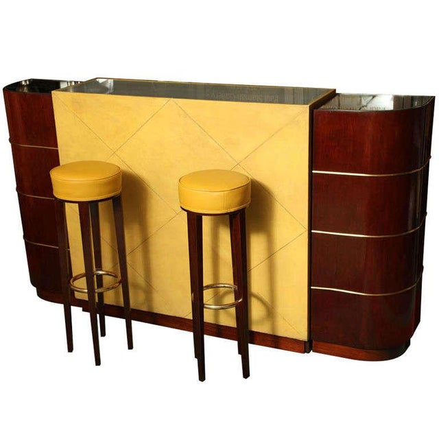 Exceptional French Art Deco Bar by Andre Arbus For Sale - Image 10 of 10