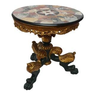 20c European Specimen Marble Small Table