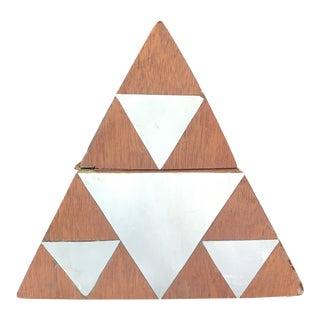 Modern Inlay Pyramid Box For Sale
