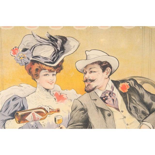 """French Gorgeous Belle Époque Poster by Francisco Tamagno """"Demandez Un Marra"""" For Sale - Image 3 of 9"""
