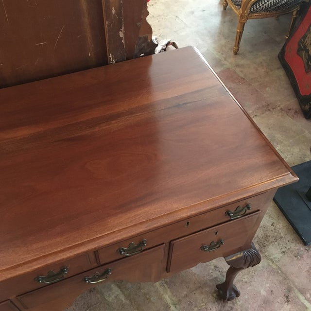 Brown 1800's Hand Made Chippendale Mahogany Desk For Sale - Image 8 of 10