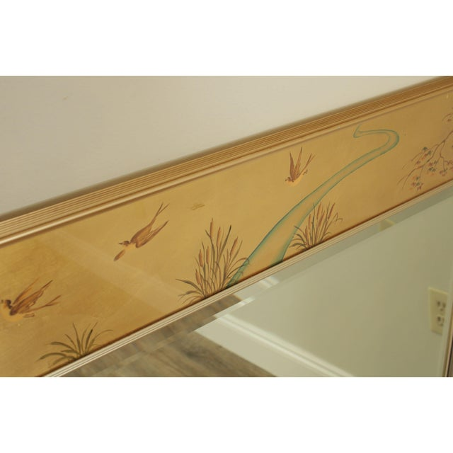 Labarge LaBarge Gold Chinoiserie Eglomise Reverse Painted Mirror For Sale - Image 4 of 13