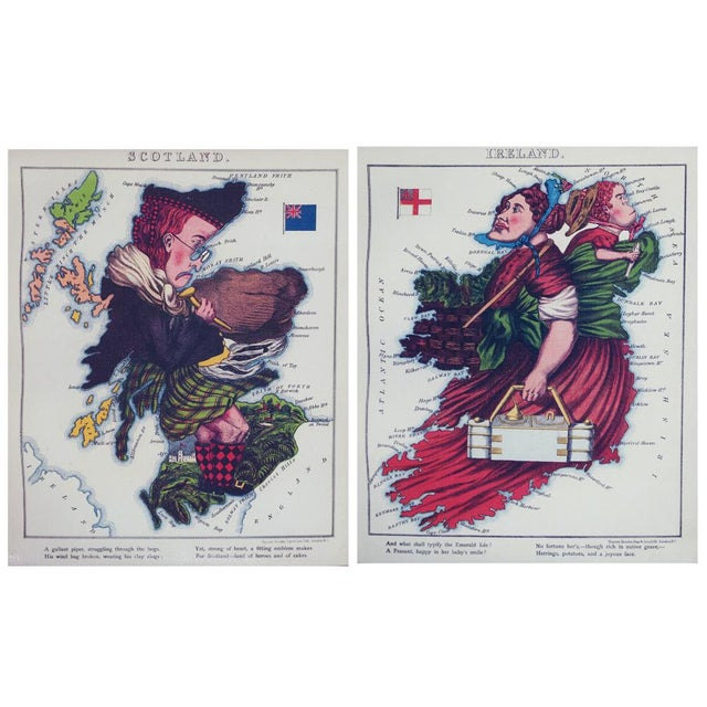 Hollywood Regency 1869 Vintage Caricature Maps of Europe - Set of 12 For Sale - Image 3 of 10