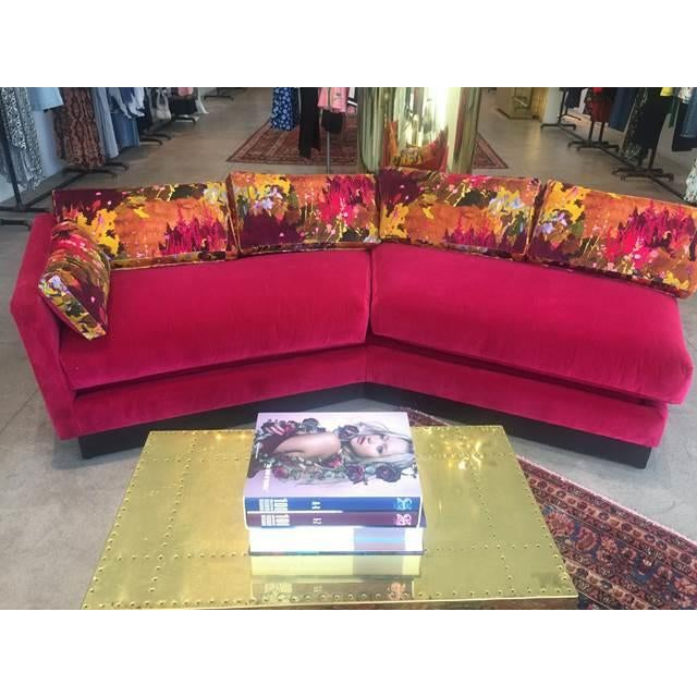 Mid Century Modern Milo Baughman Style Sectional Sofa For Sale In San Francisco - Image 6 of 8