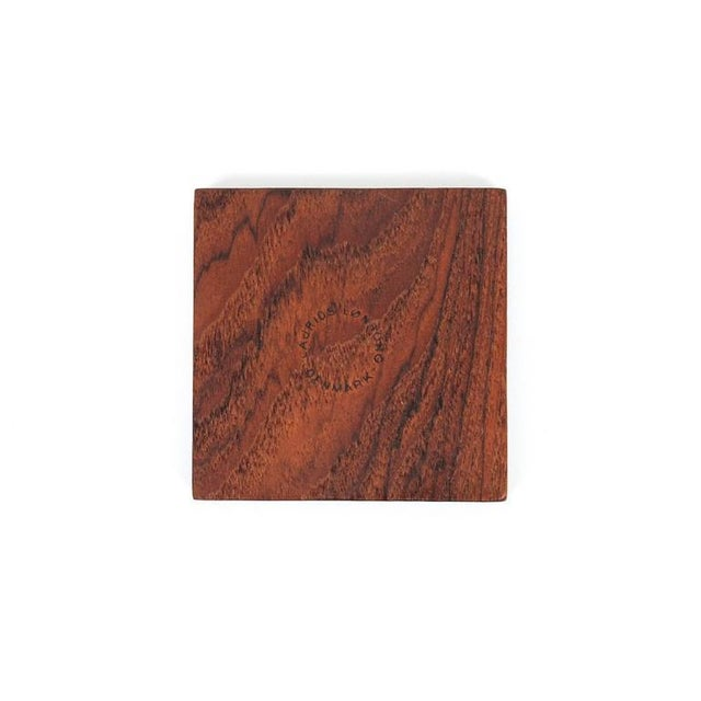 Graphic Danish Teak Coaster Set by Laurids Lonborg For Sale - Image 10 of 11