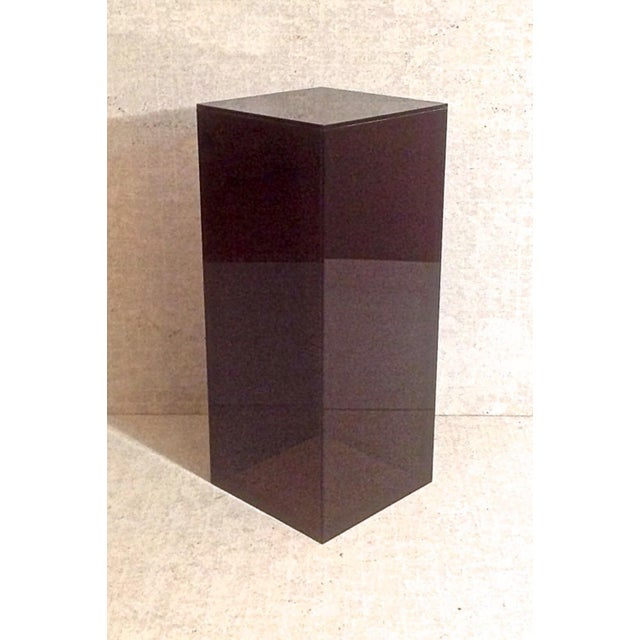 Vintage Smoked Lucite Pedestal - Image 2 of 5