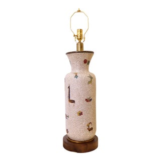 Vintage Mid-Century Italian Ceramic Lamp For Sale