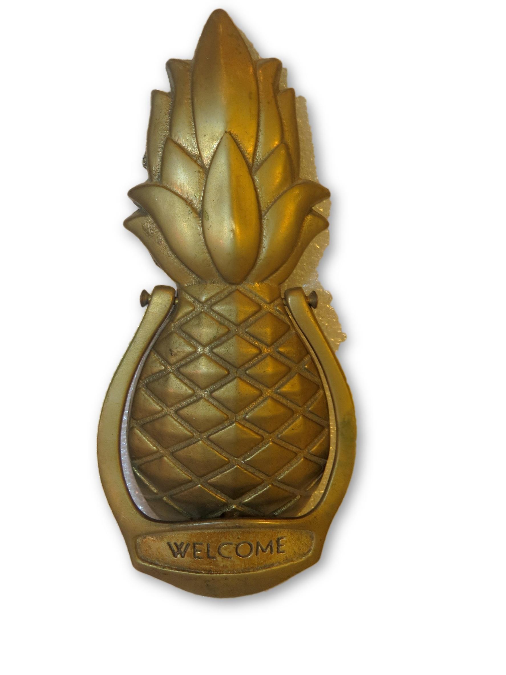 Vintage Brass Pineapple Door Knocker   Image 7 Of 7