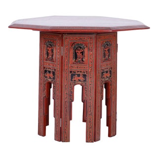 Exotic Thai Hand-Painted Table For Sale