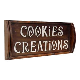 Wooden Cookie Creations Sign