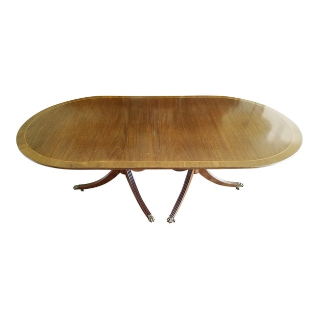 Blond Mahogany Expandable Dining Table For Sale