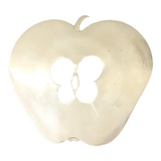 Mid-Century Modern Brass Apple Trivet For Sale