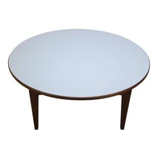 Mid-Century Jens Risom Laminate & Walnut T-336 Coffee Table For Sale
