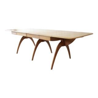 Heywood Wakefield Mid-Century Modern Extension Wishbone Dining Table