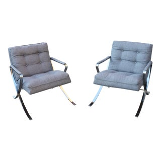 Vintage Polished Chrome Lounge Chairs