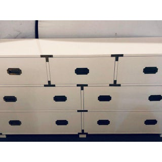 Baker Campaign Chest Having Bronze Pull Spectacular White Lacquer Finish Preview