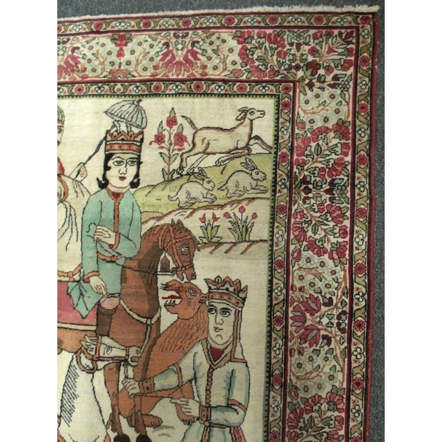 Red Late 19th Century Antique Handmade Pictorial Rugs - a Pair For Sale - Image 8 of 13