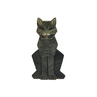 1950s New England Folk Art Cat Doorstop For Sale