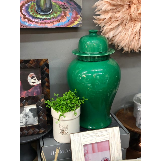 Emerald Temple Jars - A Pair For Sale In Los Angeles - Image 6 of 8