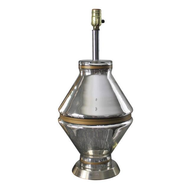 Mid-Century Mercury Glass Lamp - Image 1 of 7