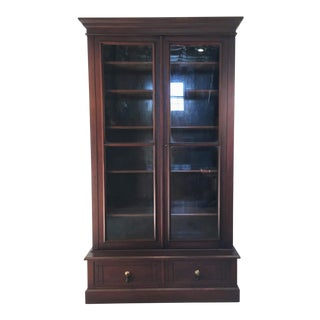 19th Century Victorian Two Door Bookcase Display Cabinet For Sale