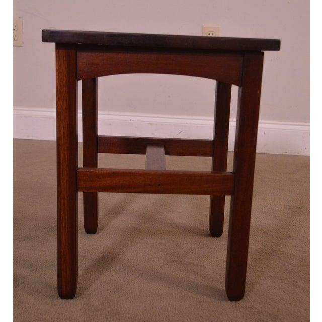 Mission Antique Mission Style Mahogany Taboret Side Table For Sale - Image 3 of 13