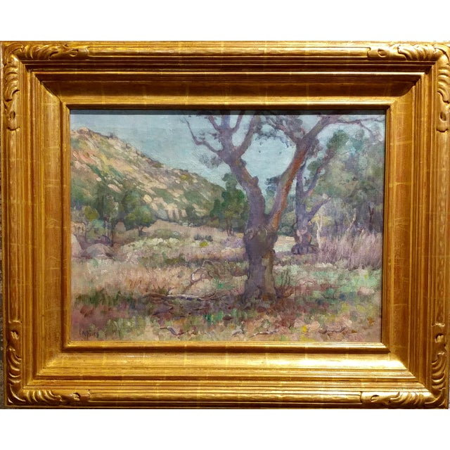 Charles Fries -Oaks & Hills near Mussey Grade- California Oil Painting oil painting on canvas -Important California...