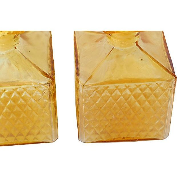 Amber Quilted Decanters - Pair - Image 3 of 3