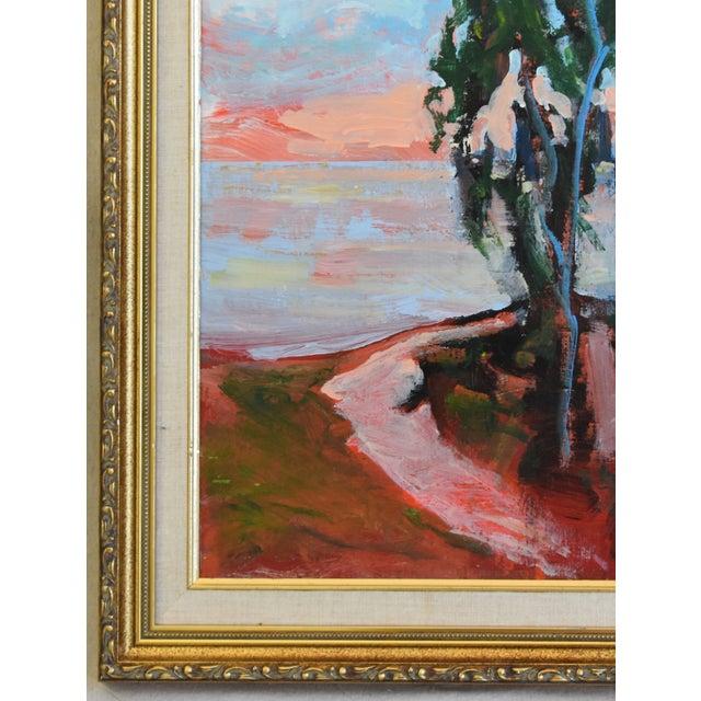 Abstract Juan Guzman Plein Air Seascape Landscape Oil Painting For Sale - Image 3 of 9