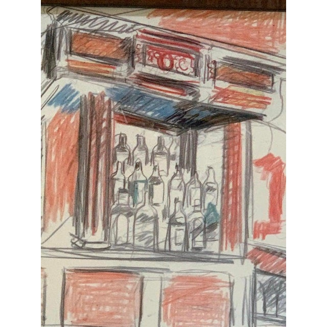 Robert De Niro Sr. Iconic Maxwell Mahogany Bar Sketch For Sale In Philadelphia - Image 6 of 7
