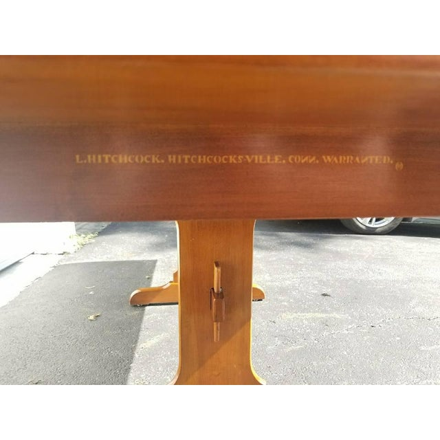 L. Hitchcock Furniture Harvest Trestle Table with 2 Leafs - Image 4 of 8