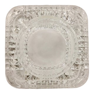 Crystal Multi Purpose Ashtray or Candle Holder For Sale